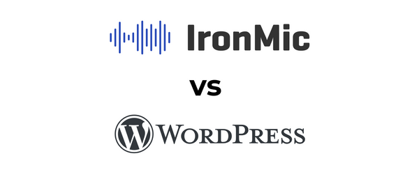 WordPress vs IronMic